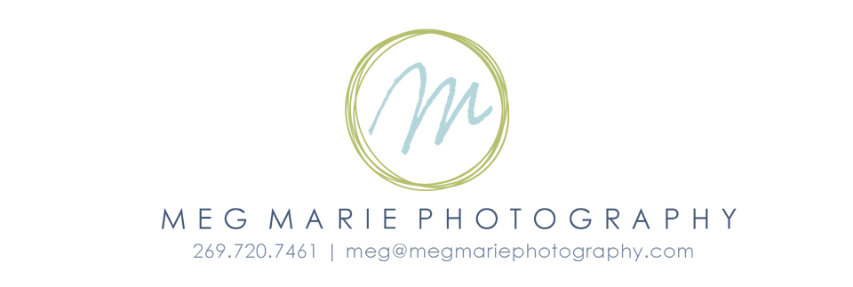 Kalamazoo Photographer | Meg Marie Photography; portrait photography in Michigan logo